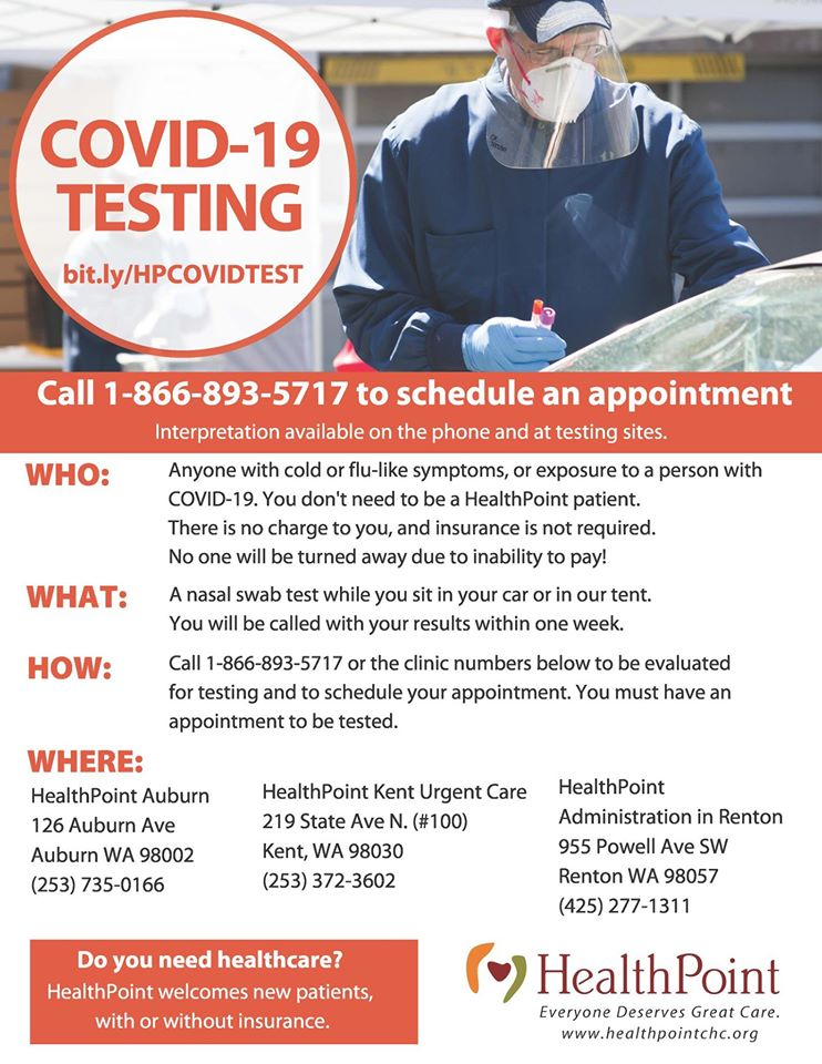COVID-19 Free Testing - City of Auburn